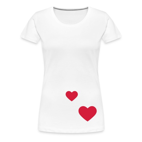 CORAZONES - Camiseta premium mujer