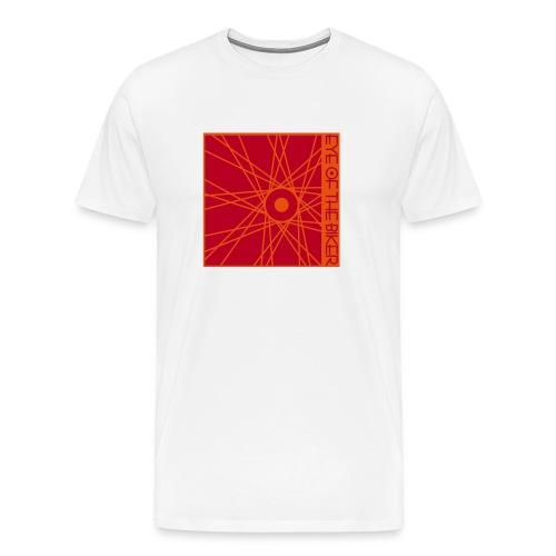 Eye Of The Biker - Wheel - white/red/orange - Männer Premium T-Shirt