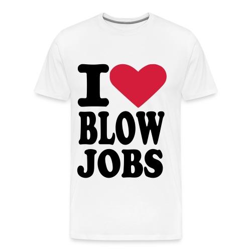 i hart blow jobs - Premium-T-shirt herr