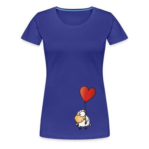 Herz Schäfchen - Valentinstag Liebes Shirt - Frauen Premium T-Shirt