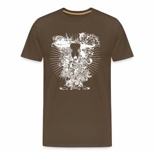 Longhorn Totenkopf - Männer Premium T-Shirt