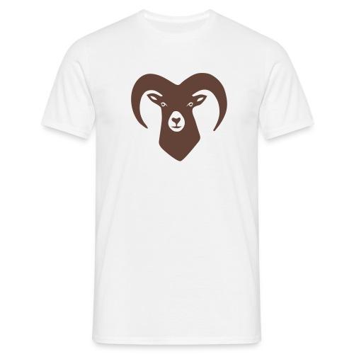 tier t-shirt schaf widder ziege horn hörner bock schafskopf hirsch geweih karten spiel kartenspiel - Männer T-Shirt