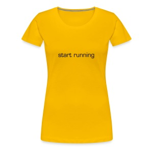 Start Running Women's Yellow Ref T-Shirt - Women's Premium T-Shirt