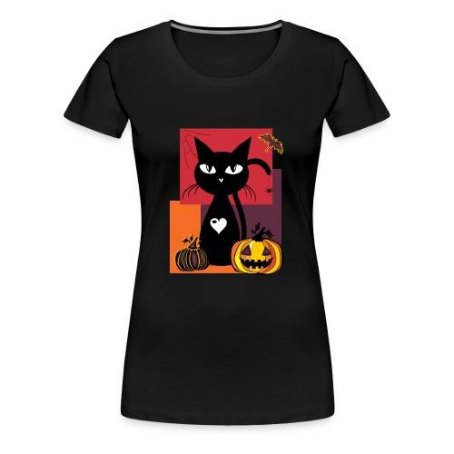 Halloween cat Damen  - Frauen Premium T-Shirt