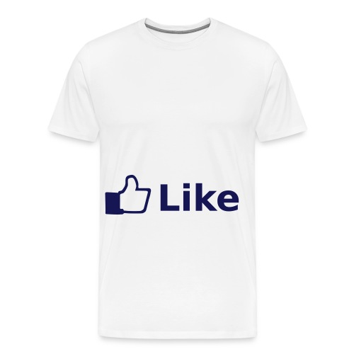 FaceBook Like - Mannen Premium T-shirt