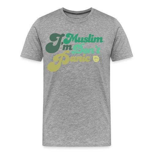 14€40   T-shirt homme I'm muslim don't panic. - Men's Premium T-Shirt