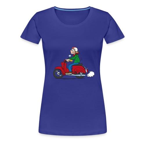 Comic Schwalbenfahrer niedlich, Girlie-Shirt - Frauen Premium T-Shirt