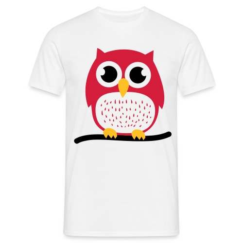Hibou Rouge - T-shirt Homme