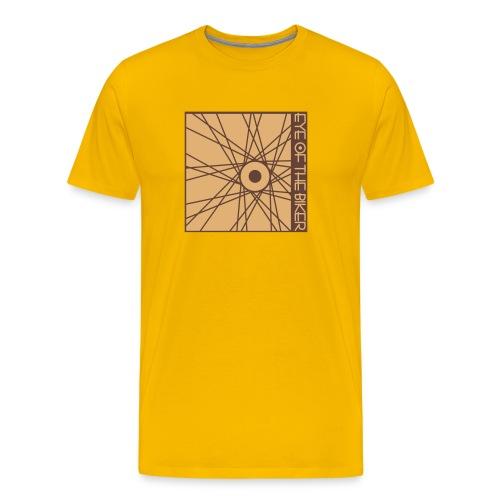 Eye Of The Biker - Wheel - yellow/sand/brown - Männer Premium T-Shirt