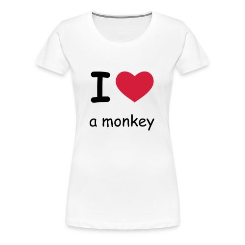 I love a monkey - weiß - Frauen Premium T-Shirt