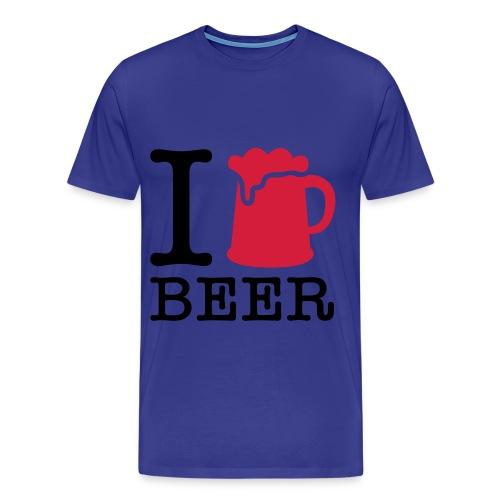 I love beer - Camiseta premium hombre