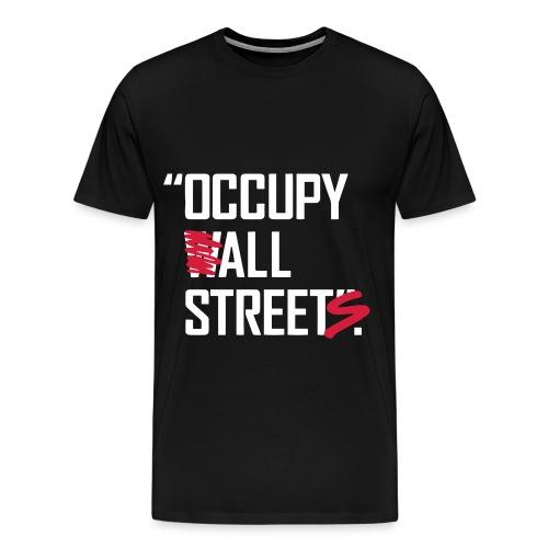 Occupy Wall Street - Mannen Premium T-shirt