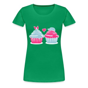 Cupcakes in Love - Frauen Premium T-Shirt