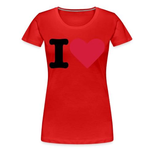 I love kiss - Frauen Premium T-Shirt