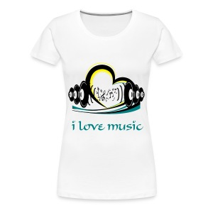 Women's Girlie Shirt i love music White - Women's Premium T-Shirt
