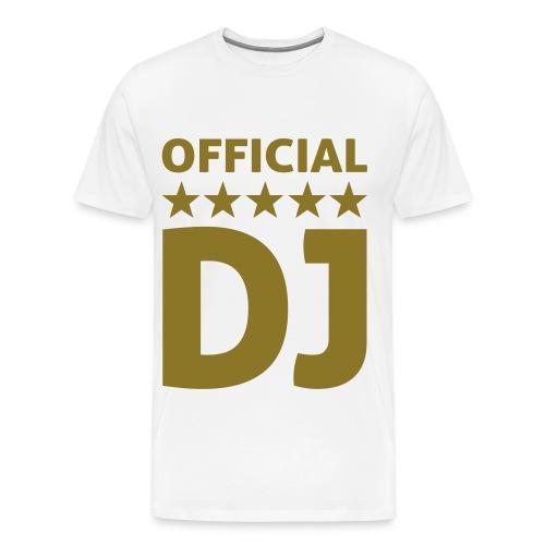 OFFICIAL DJ shirt - Mannen Premium T-shirt