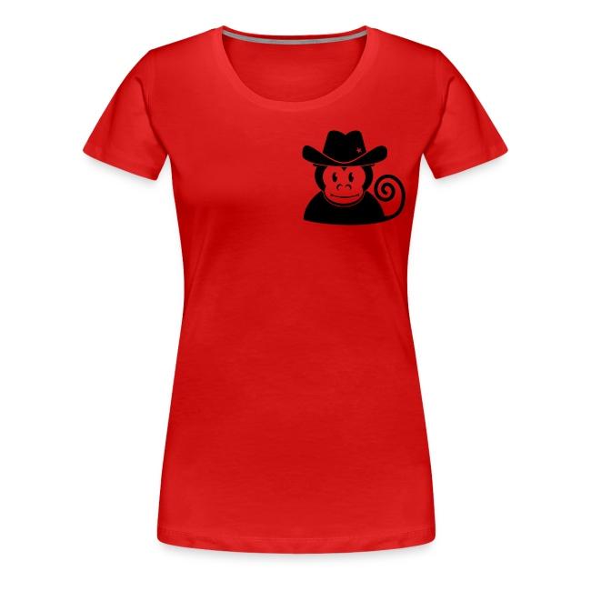 Der Bootmonkey Affe Girlie shirt
