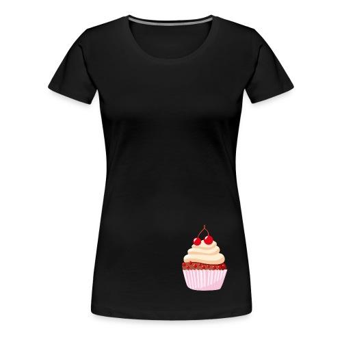T-Shirt mit Törtchen- schwarz - Frauen Premium T-Shirt