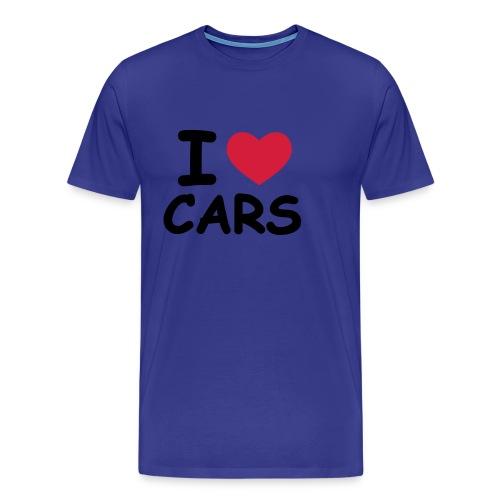 i love cars - Maglietta Premium da uomo