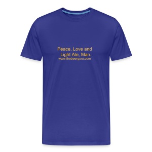 Peace, Love and Light Ale  - Men's Premium T-Shirt