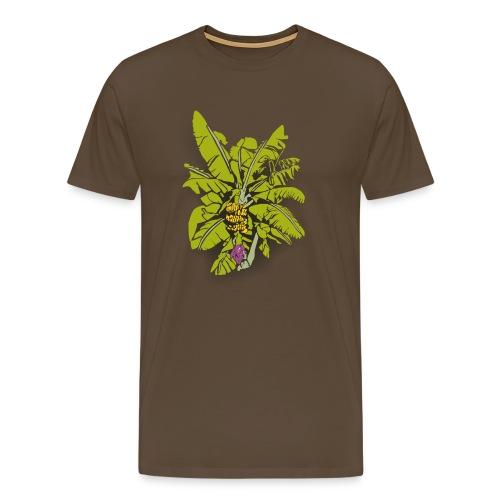 Banana Tree on Color - Men's Premium T-Shirt