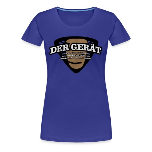 Der Gerät gelb - Frauen Premium T-Shirt