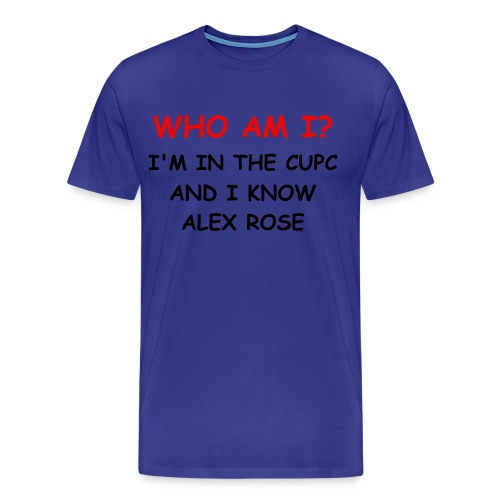 WHO AM I? SAM BROWNE SHIRT MEN - Men's Premium T-Shirt