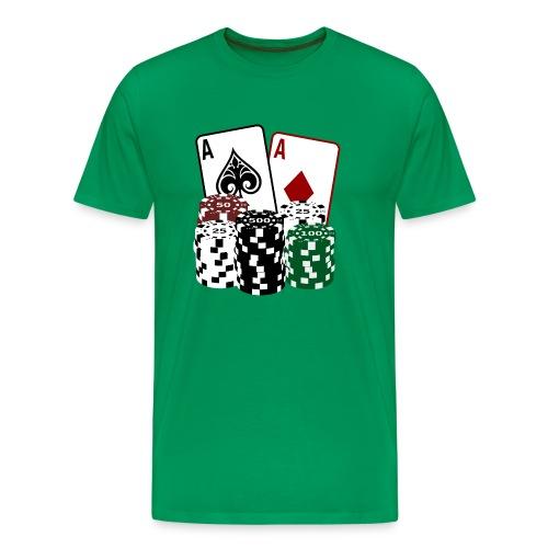 Poker Cards and Chips - Männer Premium T-Shirt
