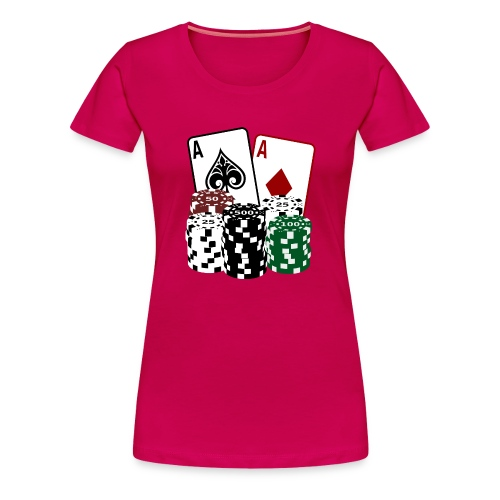 Poker Cards and Chips - Frauen Premium T-Shirt