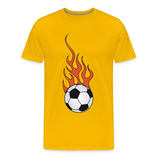 t-shirt football soccer flaming - Men's Premium T-Shirt