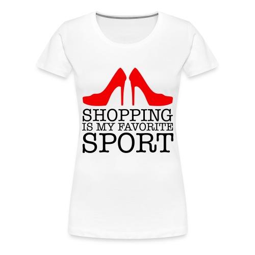 Camiseta premium mujer - zapatos,sport,shopping,ropa,rojo,negro,mujer,moda,fashion,comprar,camiseta,blanco