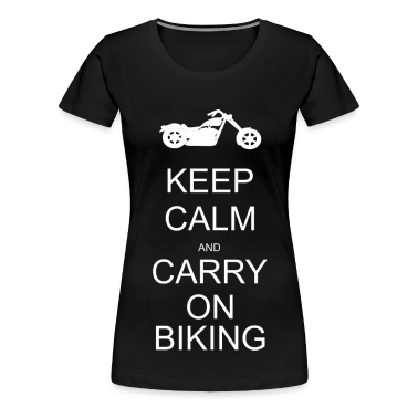 Keep calm and carry on biking T-Shirts