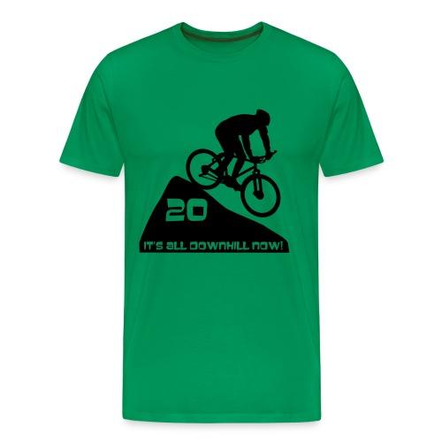 It's all downhill now - birthday 20 - Men's Premium T-Shirt
