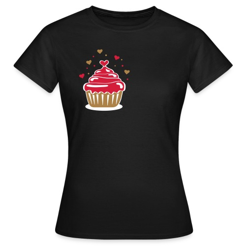 geherzter Cupcaki - Frauen T-Shirt
