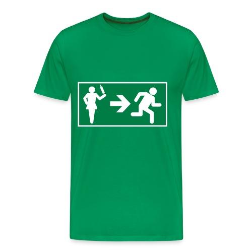 Camiseta premium hombre - verde,mujer,hombre,exit,camiseta