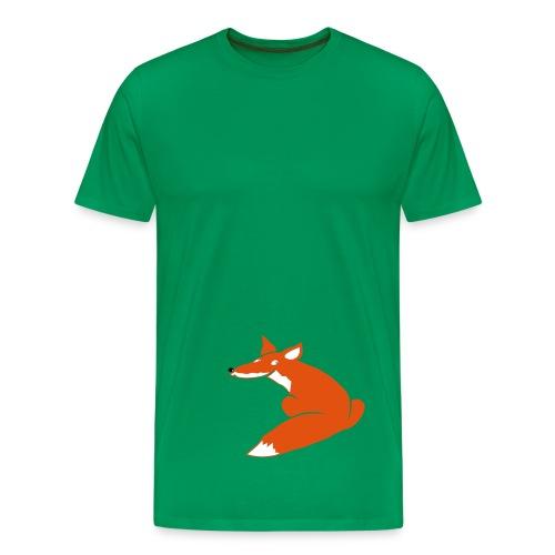 t-shirt tier fuchs hund wolf fuchsig katze fox foxy schlau tier schakal kojote - Männer Premium T-Shirt