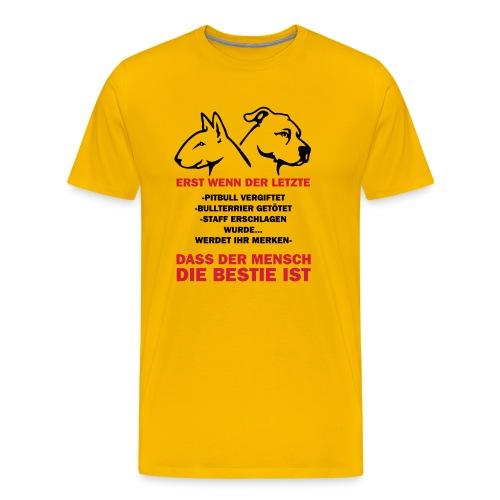 Der Mensch ist die Bestie - Männer Premium T-Shirt