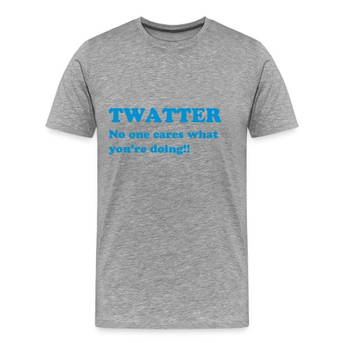 Twatter shirt - Male - Men's Premium T-Shirt