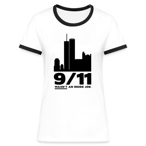9/11 WASN'T AN INSIDE JOB. - Frauen Kontrast-T-Shirt