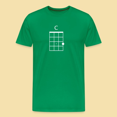 XL-Menshirt: C-Dur (Motiv: weiß) - Männer Premium T-Shirt