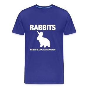 Funshirt Rabbits: Nature's little speedbumps - Mannen Premium T-shirt