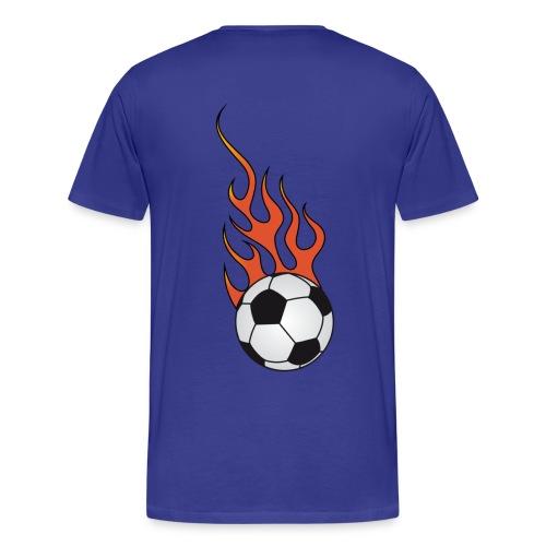 t-shirt football soccer flaming - Men's Premium T-Shirt
