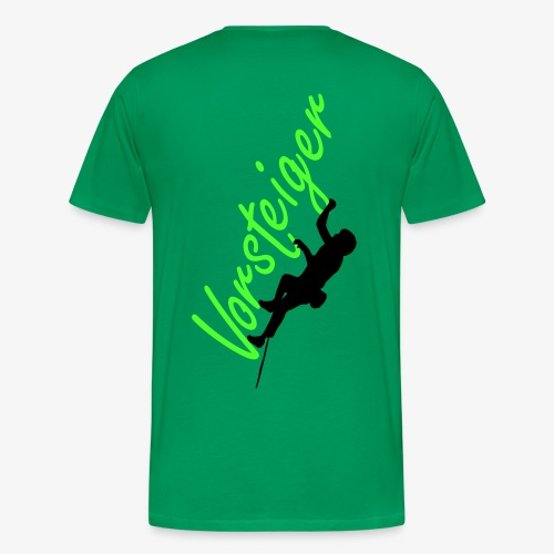 Vorsteiger - grün (men) - Männer Premium T-Shirt