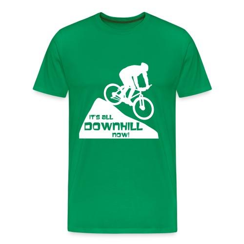 It's all downhill now! - Men's Premium T-Shirt