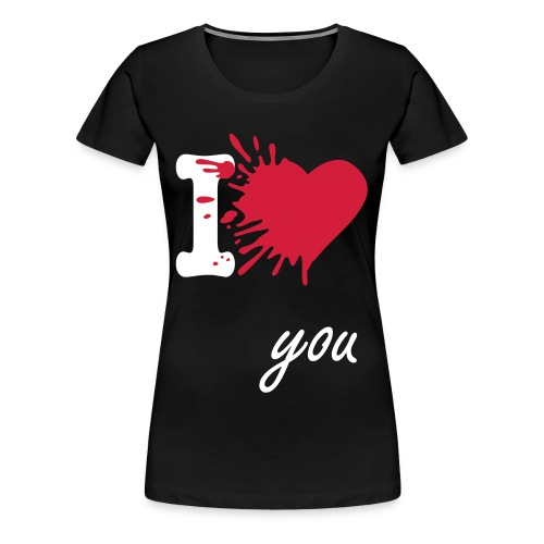 'I LOVE YOU' Women T-shirt BLACK - Vrouwen Premium T-shirt