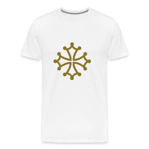 Croix du Languedoc Or et blanc - T-shirt Premium Homme