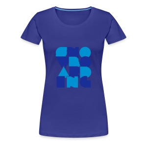 'Letters' Snowboard Girls Premium Top - Women's Premium T-Shirt