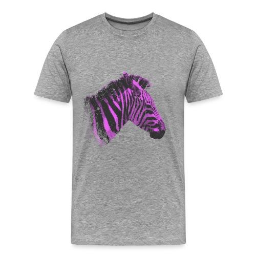 camiseta purple zebra - Camiseta premium hombre