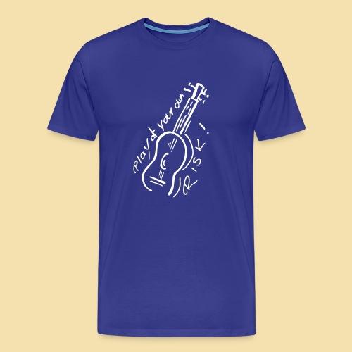 Menshirt: Play at your own RISK (Motiv: weiss) - Männer Premium T-Shirt