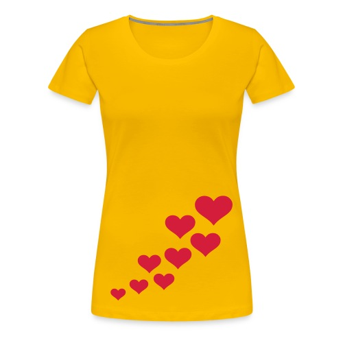 yellow t-shirt - Frauen Premium T-Shirt